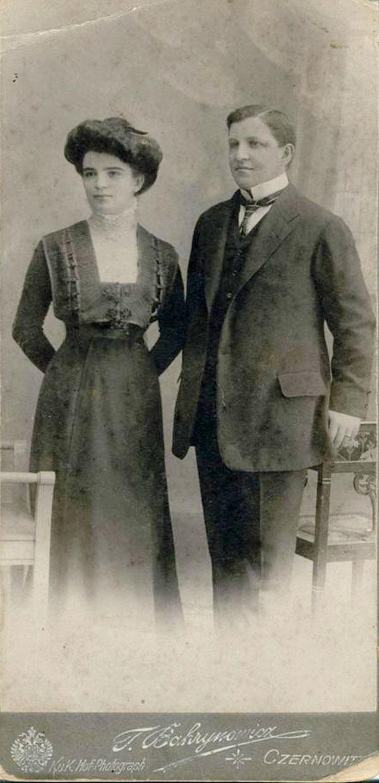 Portretul soților Avram și Sofia Imbroane, Cernăuți, 31 august 1913