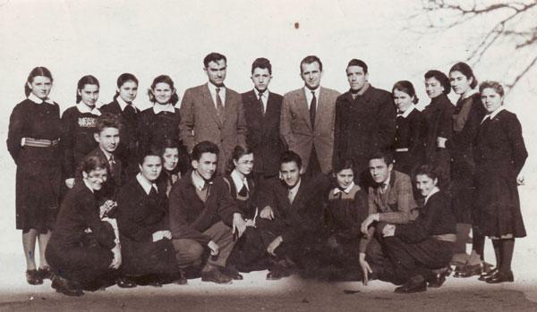 Elevii Școlii Normale din Vârșeț,  anul scolar 1952/53