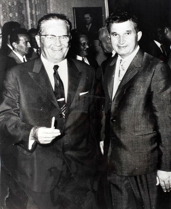 Iosif Broz Tito și Nicolae Ceaușescu la Vârșeț, august 1968