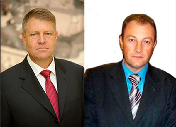 domnul Klaus Iohannis, președintele României  și Dr. Dorinel Stan, președintele Românilor Independenți din Serbia