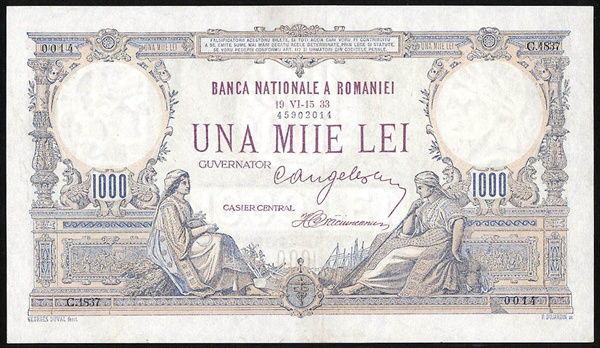 1000 lei din 1933